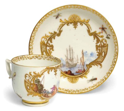 A MEISSEN SMALL COFFEE-CUP AND