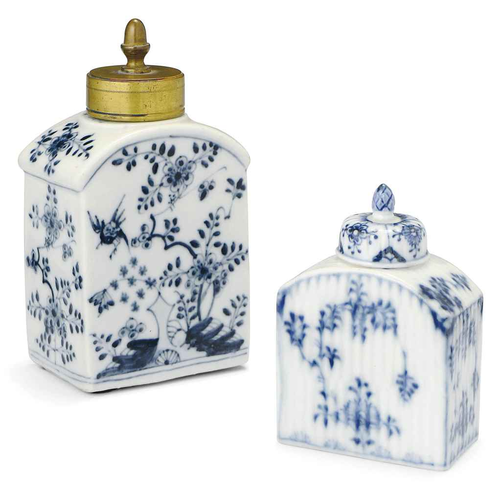 TWO MEISSEN BLUE AND WHITE ARC