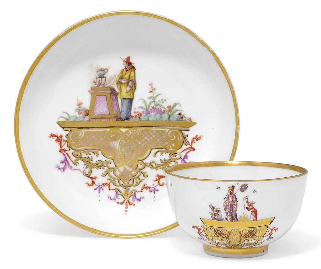A MEISSEN CHINOISERIE LARGE TE