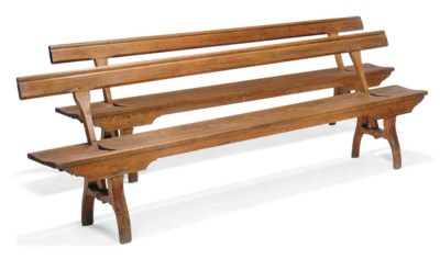 A PAIR OF LONG PITCHED PINE BE
