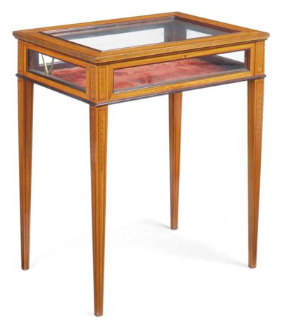 A LATE VICTORIAN SATINWOOD AND