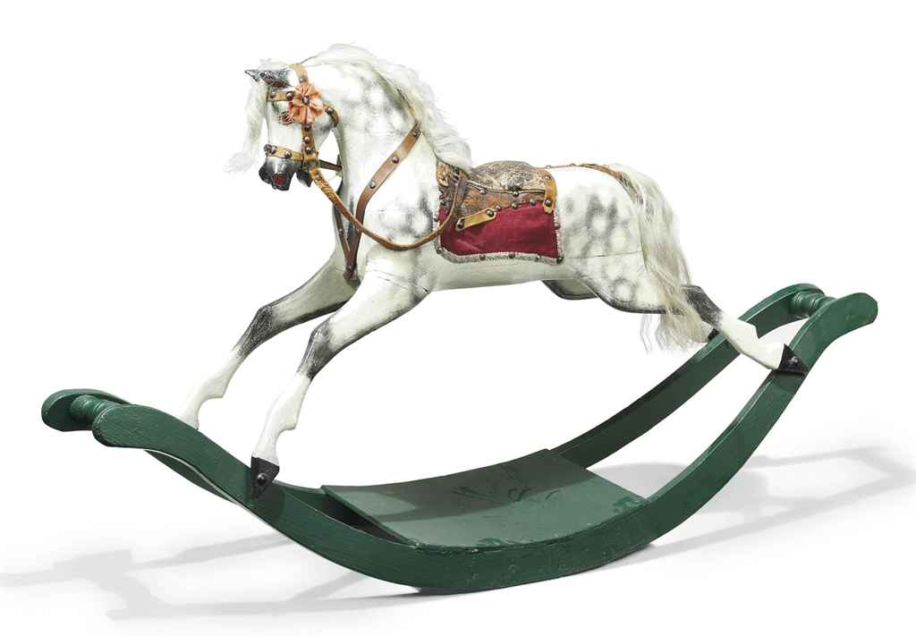 AN EDWARDIAN ROCKING HORSE
