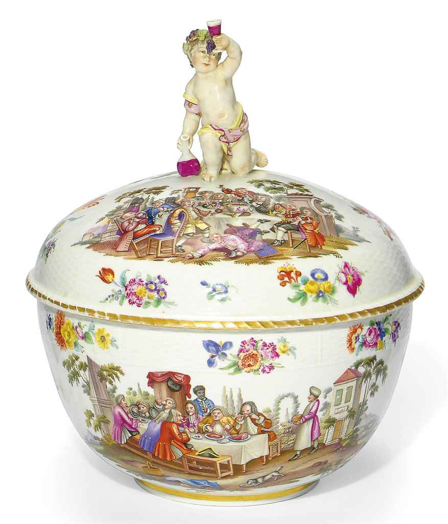 A BERLIN STYLE PUNCH-BOWL AND