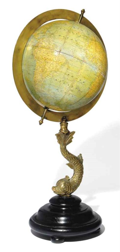 AN ENGLISH LIBRARY GLOBE