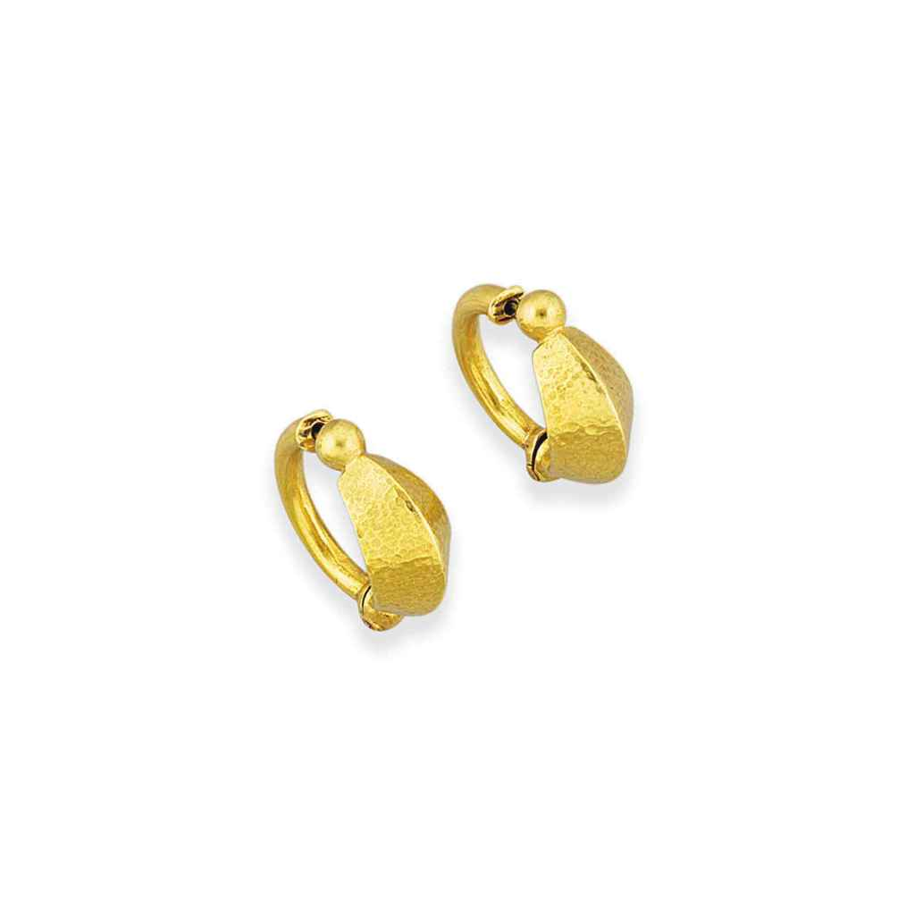 A pair of 18ct. gold earrings, by Lalaounis