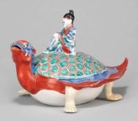 A Rare Kakiemon Model of an Immortal on a Tortoise