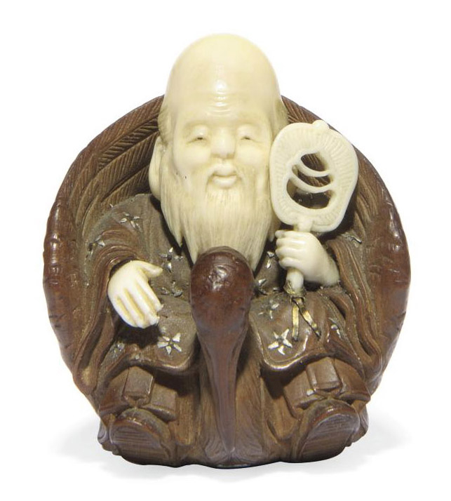 A Wood and Ivory Netsuke