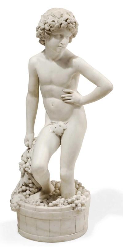 AN ITALIAN WHITE MARBLE MODEL
