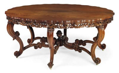 AN ANGLO-INDIAN ROSEWOOD CENTR
