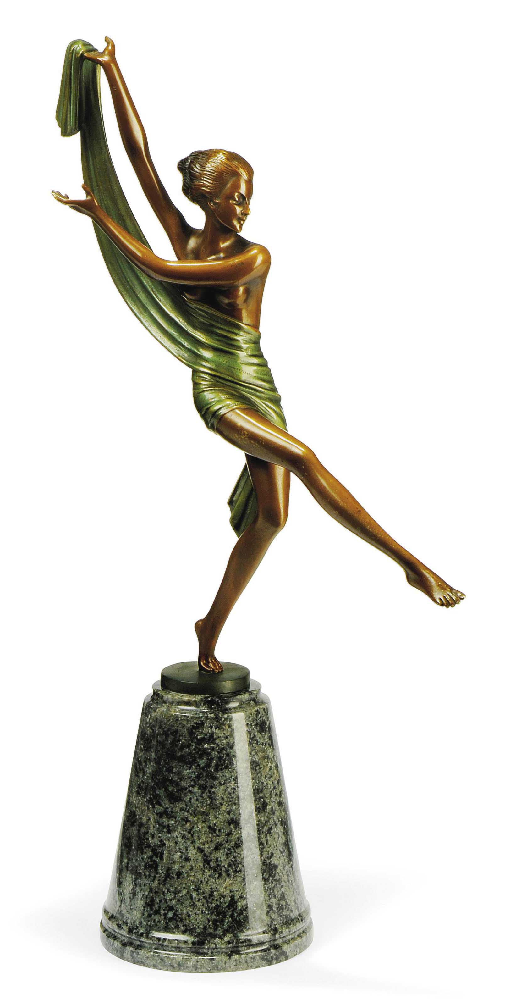 A COLD-PAINTED BRONZE FIGURE BY JOSEF LORENZL
