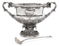 THE GOORD CUP:- A WILLIAM IV SILVER AGRICULTURAL PRIZE PUNCH BOWL