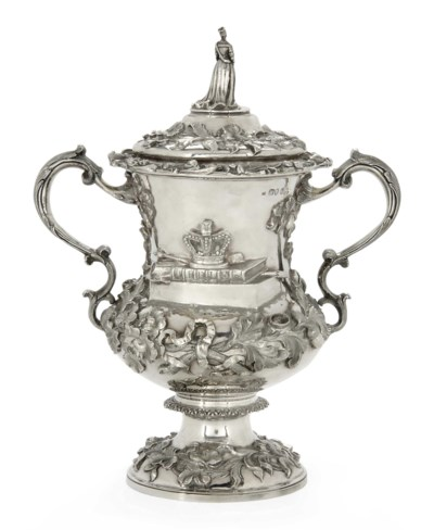 A VICTORIAN SILVER PRIZE CUP A