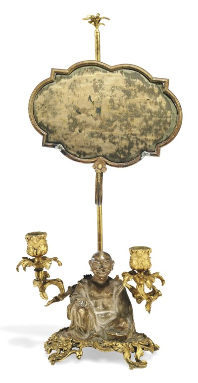 A LOUIS XV ORMOLU-MOUNTED AND