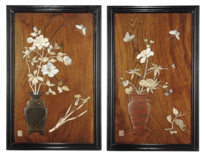 A PAIR OF JAPANESE LACQUER, BO