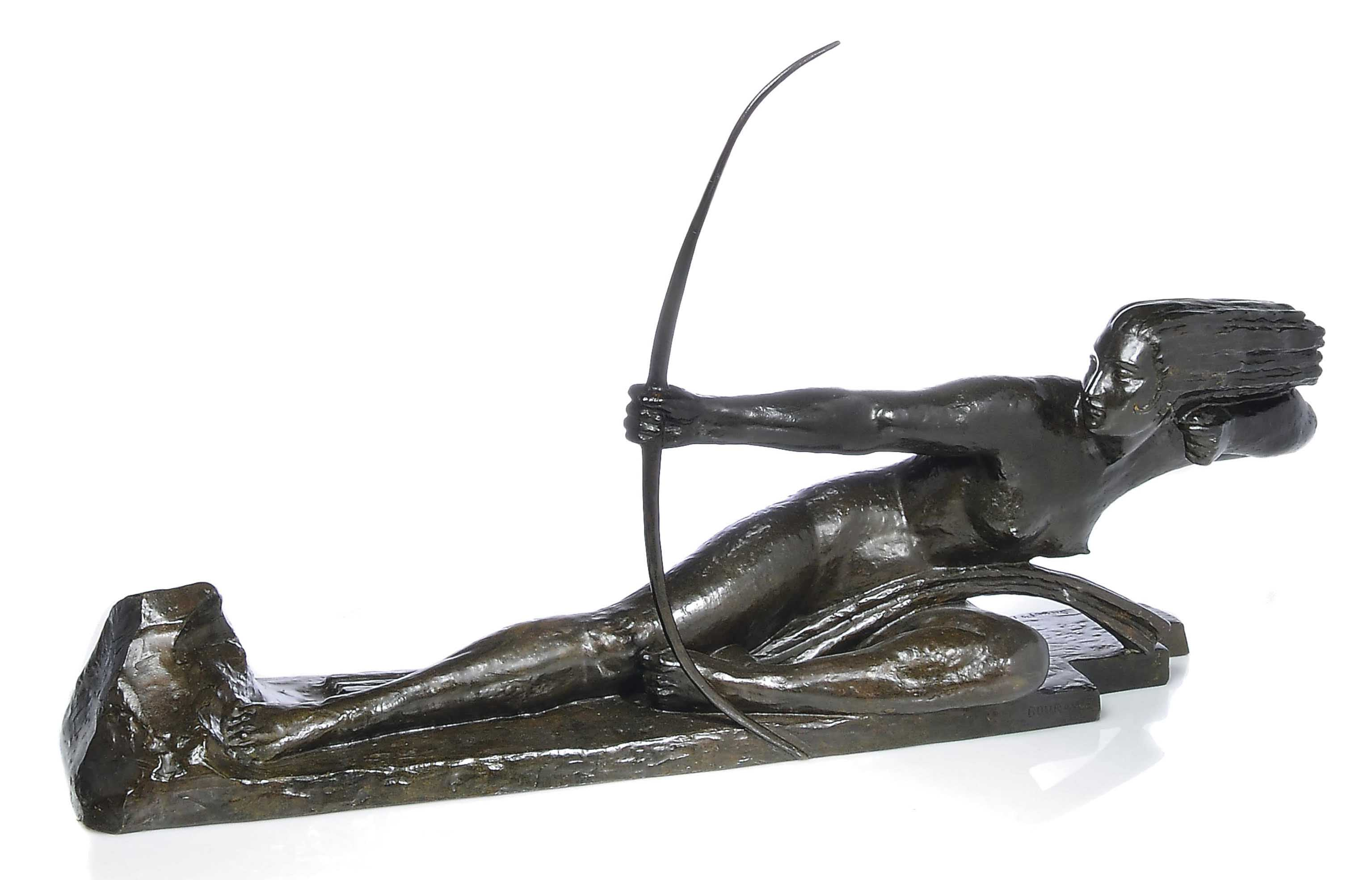 'PENTHESILIA, QUEEN OF THE AMAZONS' A PATINATED BRONZE BY MARCEL-ANDRÉ BOURAINE