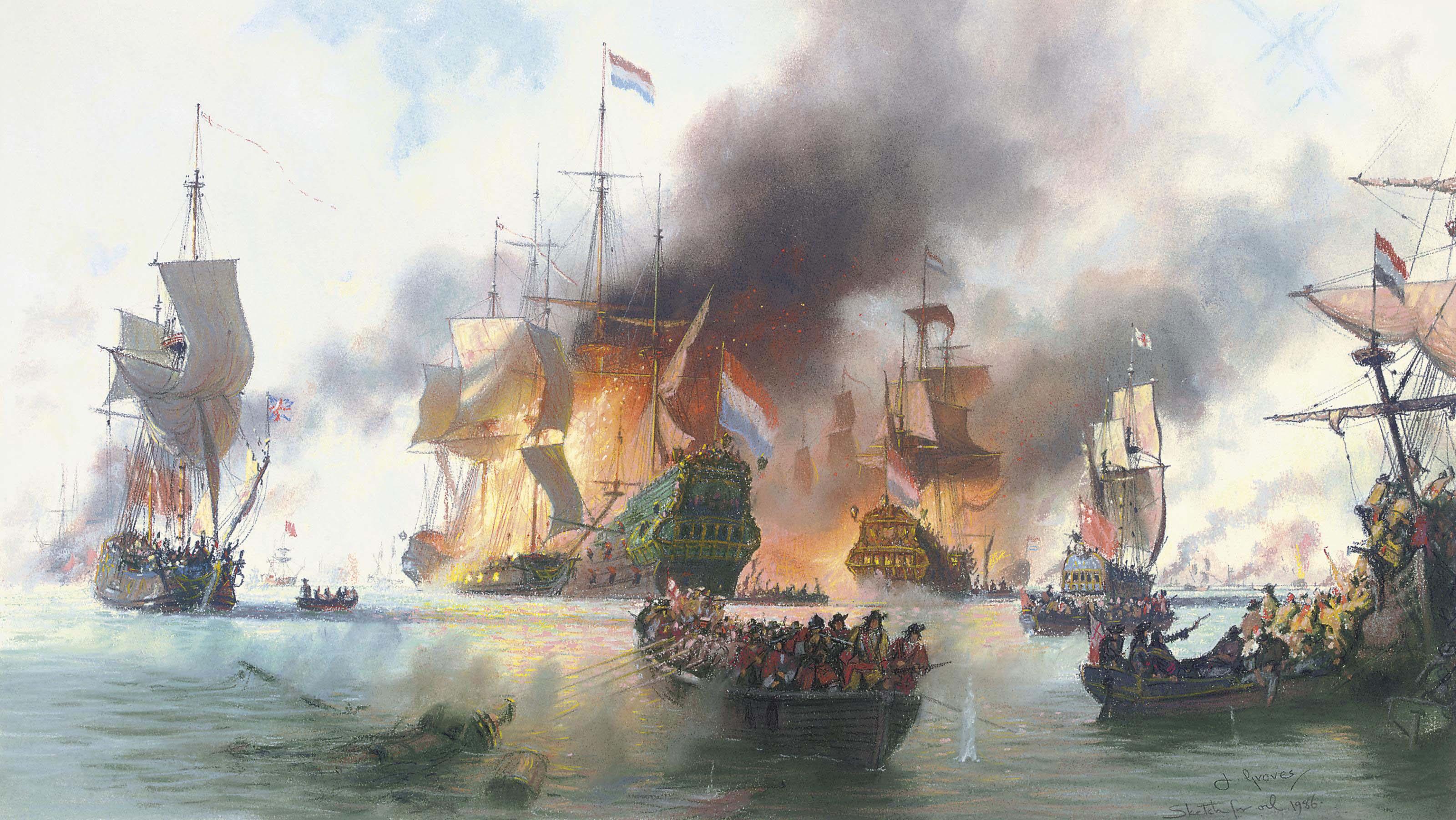 The battle of Terschelling, 1666