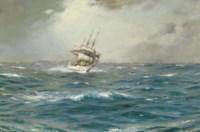 The Chilean Navy's training ship General Baquedano off Las Evangelistas, Chile