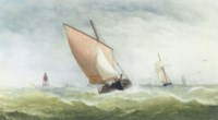 Shipping in a stiff breeze off a cardinal buoy (illustrated); and Running before the storm