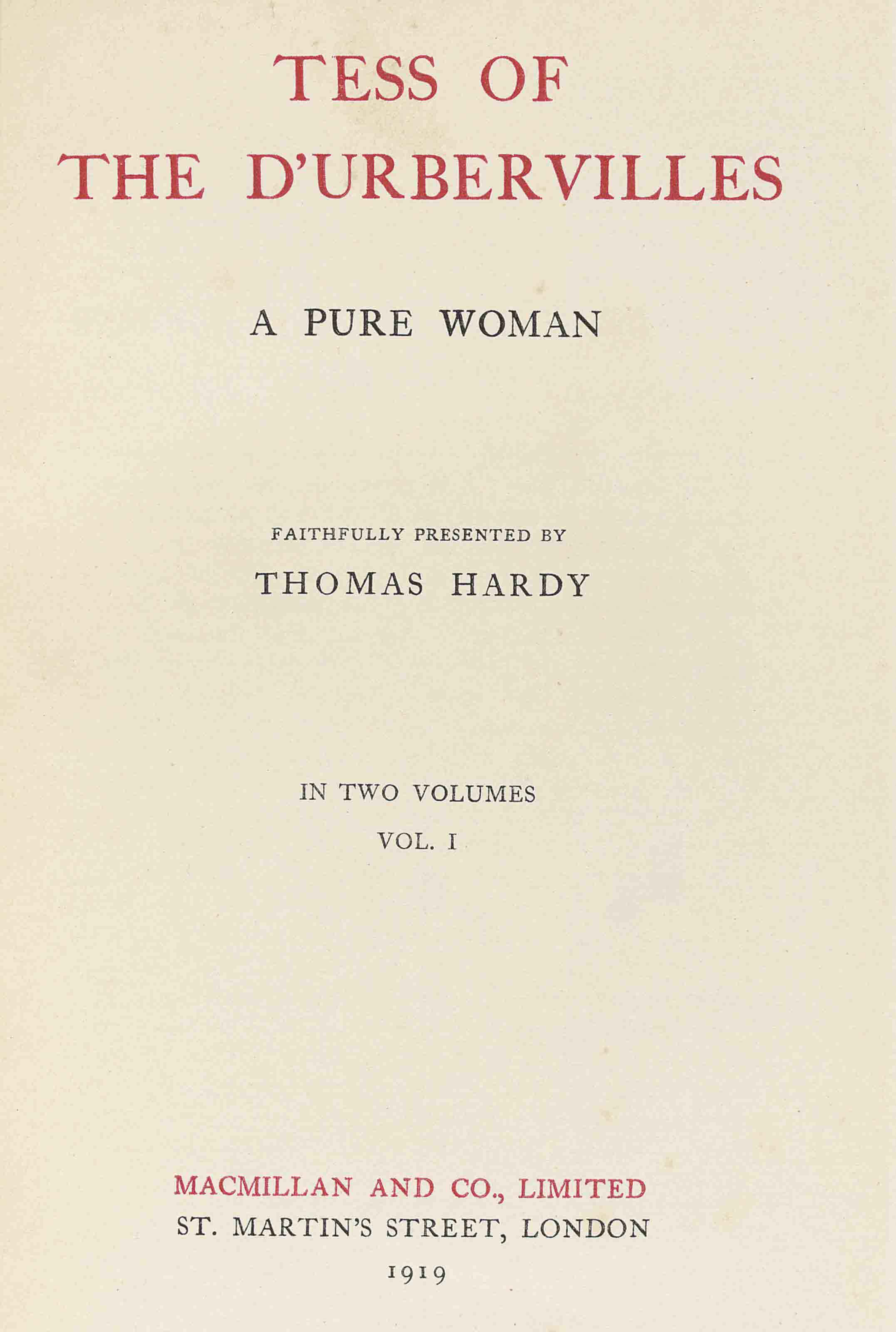 HARDY, Thomas (1840-1928). The Works. London: Macmillan, 1919-20. 37 vols., 8° (230 x 150mm). Frontispiece portrait of the author after William Strang in vol. I (light offset to title page in vol. I, light spotting to first few pages of vol. II.) Modern blue half morocco gilt, front covers embossed with the author's monogram, spines lettered and ruled in gilt, uncut.