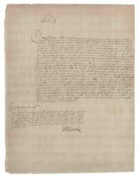 CHARLES I (1600-1649), King of England, Scotland and Ireland. Document signed (at head, 'Charles R'), Whitehall, 7 November 1628, granting a commission to Viscount Duplin, the Earl of Mar, the Earl of Haddington and Sir James Baillie or any two of them for regulating taxation in Scotland, with the brief 'To compone with all and whatsoever persone or persones conceillers and upgevares of wrangous inventar[ies] of their lent moneyis to defraud yo[u]r ma[jes]tie of the extraordinary taxation granted to your late deare father in August 1621', one page, folio (browned).