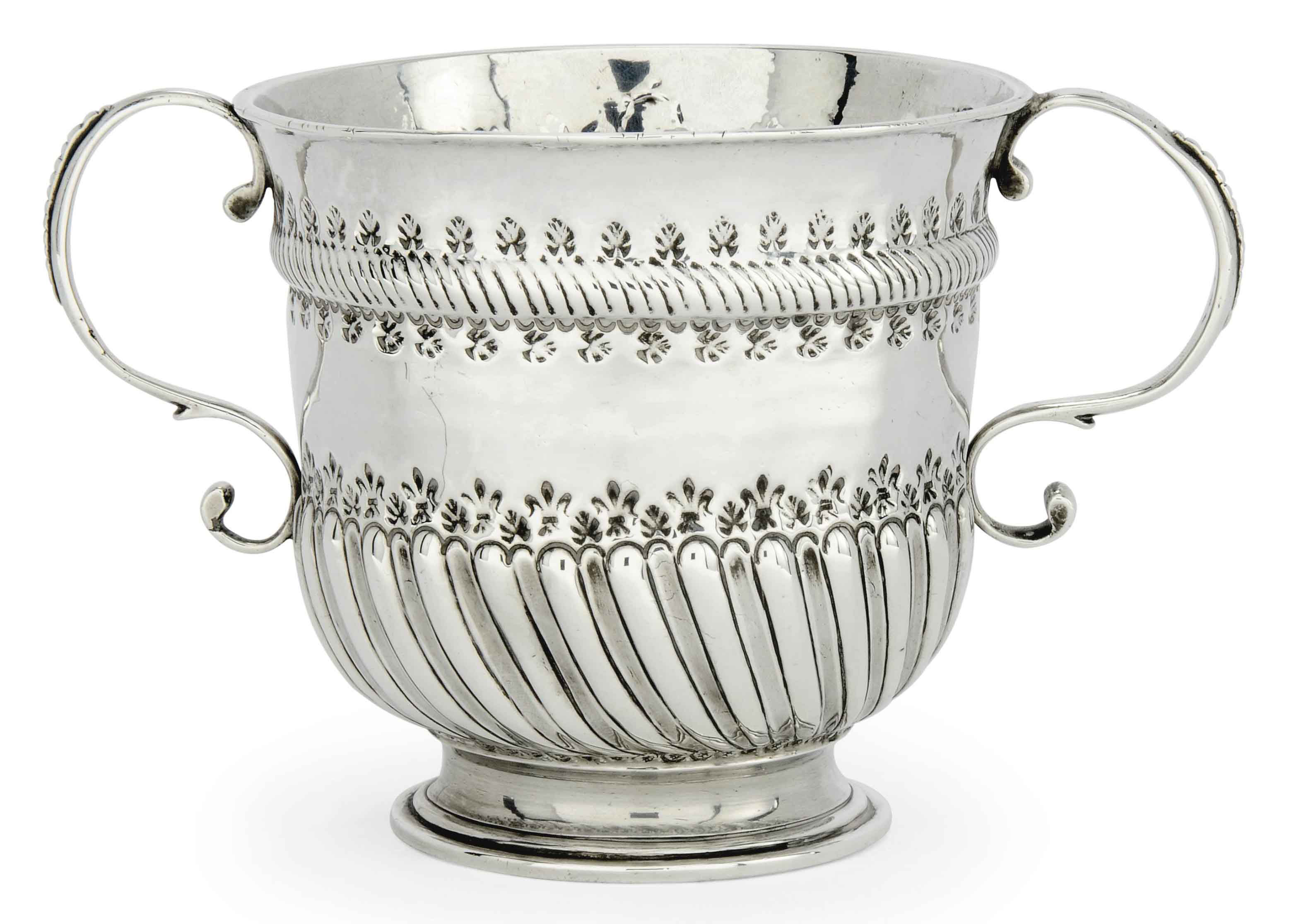 A QUEEN ANNE SILVER PORRINGER,