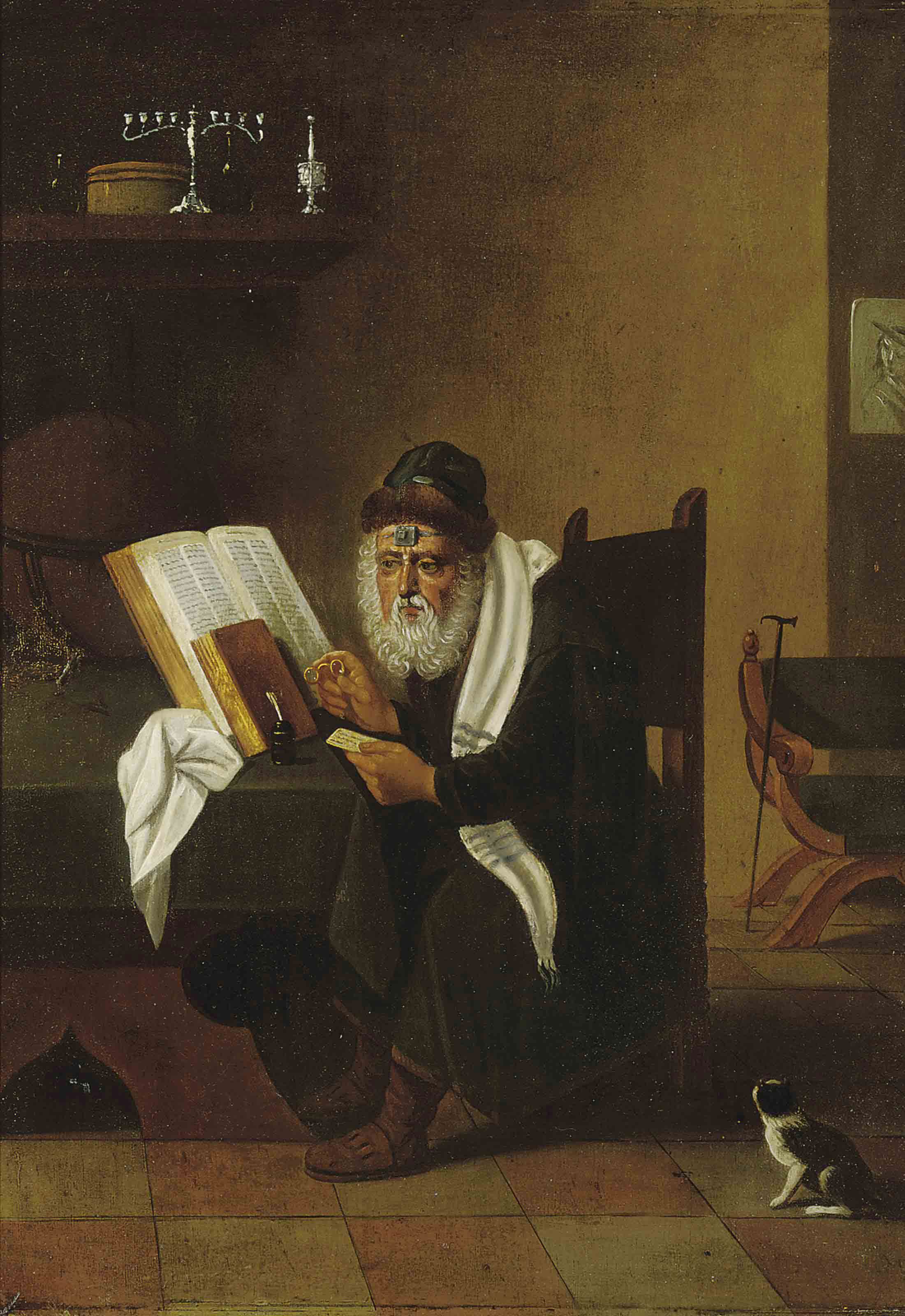 A Rabbi at his desk