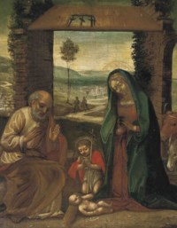 The Nativity with St. John the Baptist