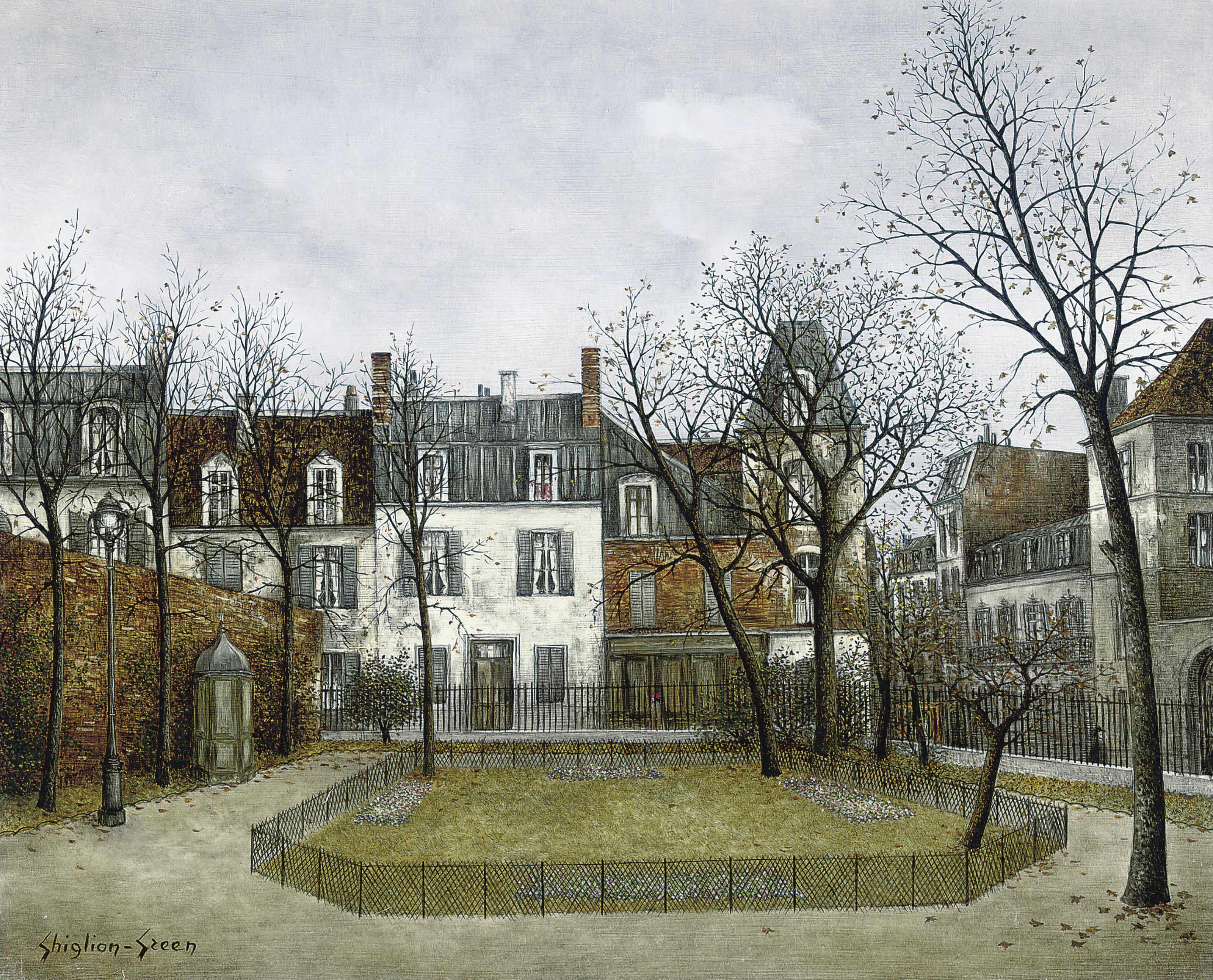 Le square Léopold-Achille, Paris