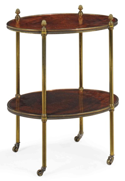 A BRASS-MOUNTED MAHOGANY ETAGE
