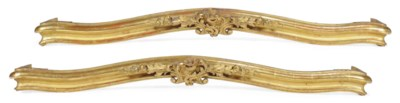 A PAIR OF CARVED GILTWOOD PELM