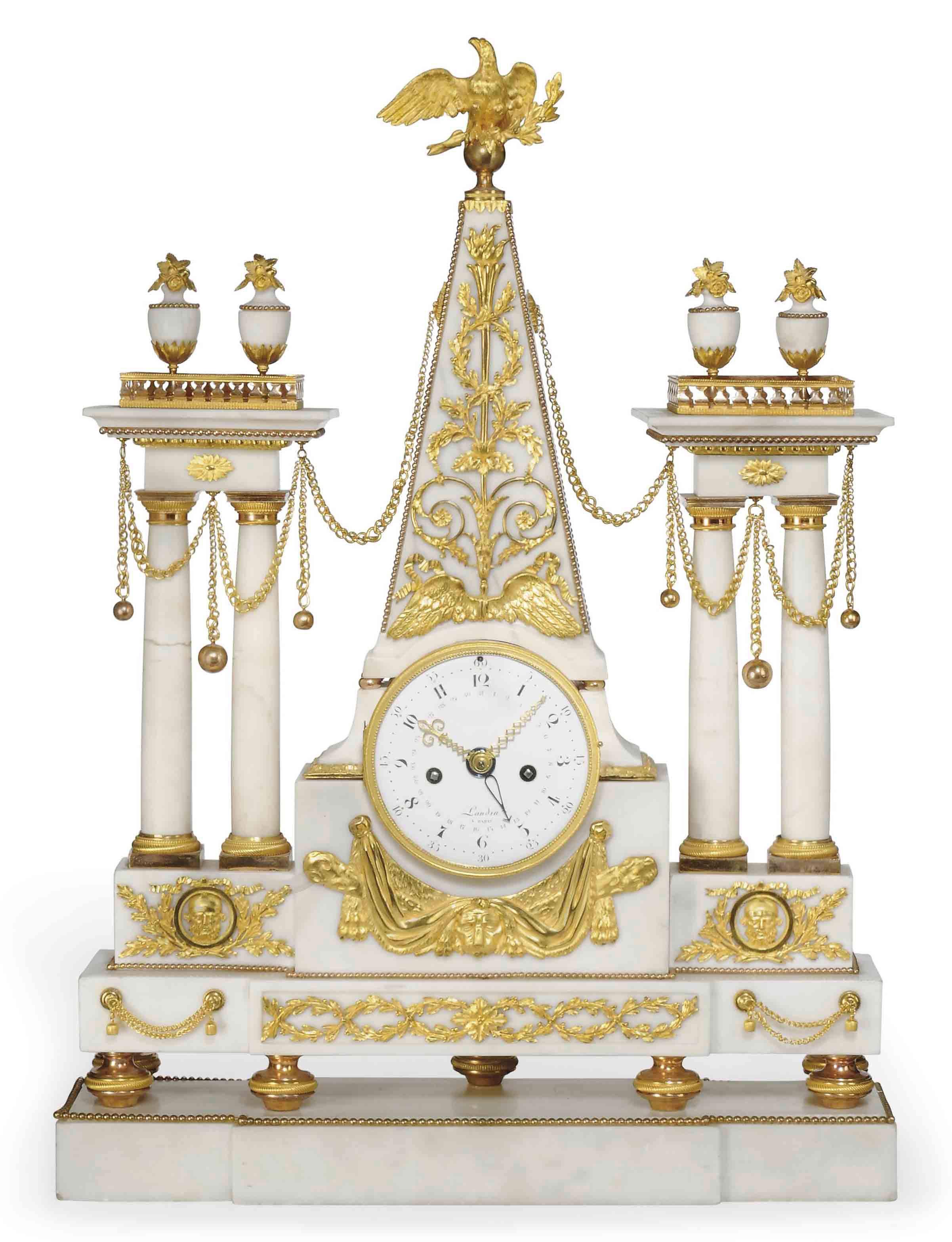 A LARGE LOUIS XVI ORMOLU AND W