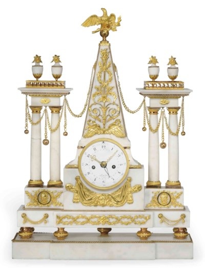 A LARGE LOUIS XVI ORMOLU AND W