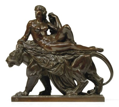 A FRENCH BRONZE MODEL OF ARIAD