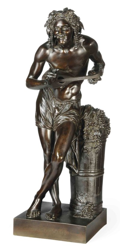 A FRENCH BRONZE FIGURE OF 'L'I