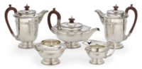 A FIVE-PIECE SILVER TEA AND COFFEE SERVICE