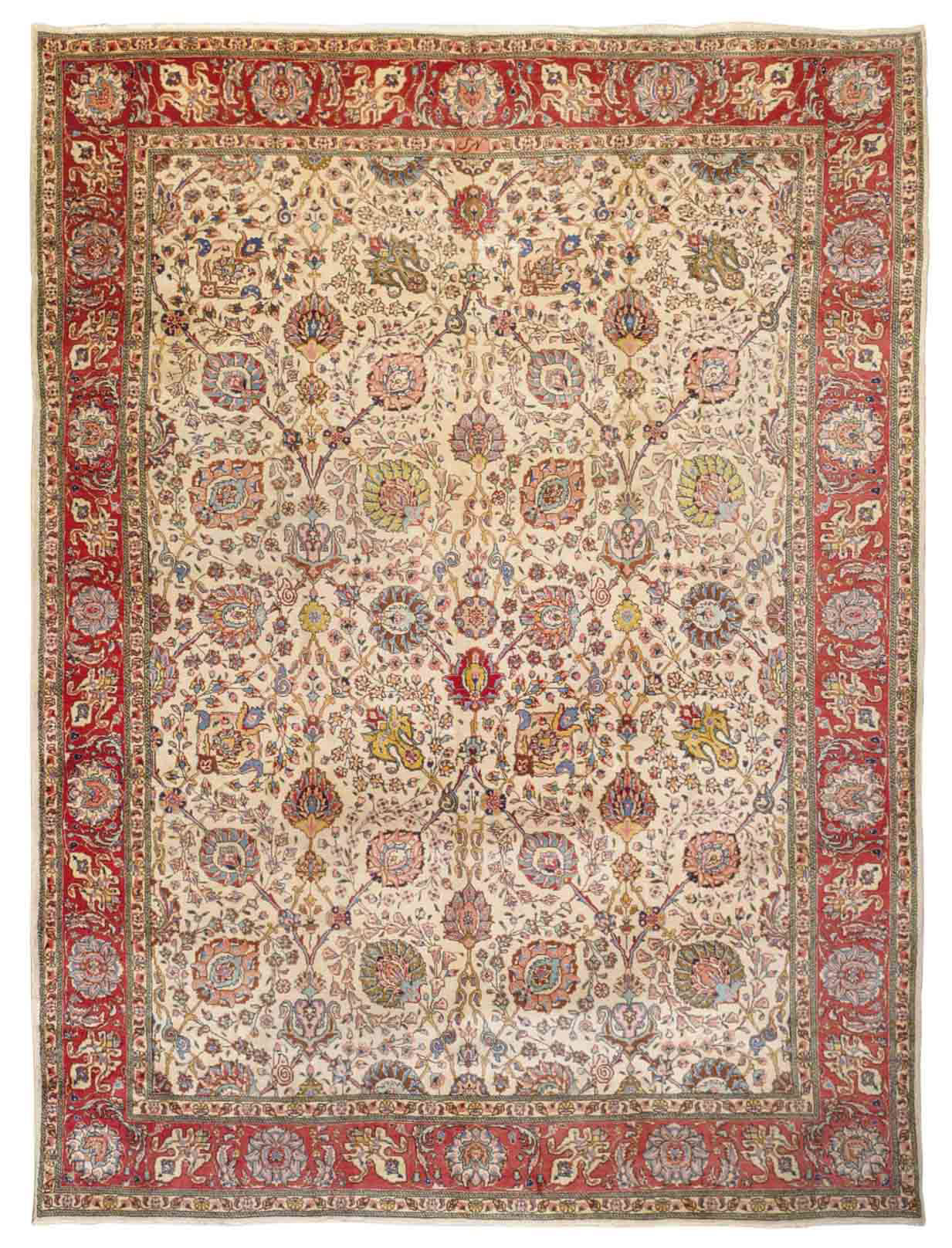 A TABRIZ CARPET OF SHAH ABBAS