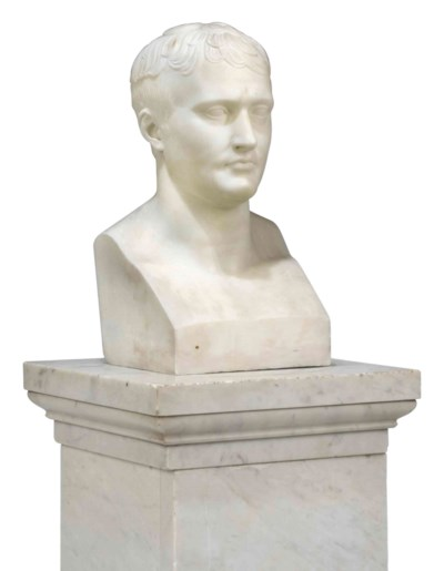 A MARBLE BUST OF NAPOLEON
