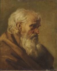 Portrait of a bearded monk, bust-length