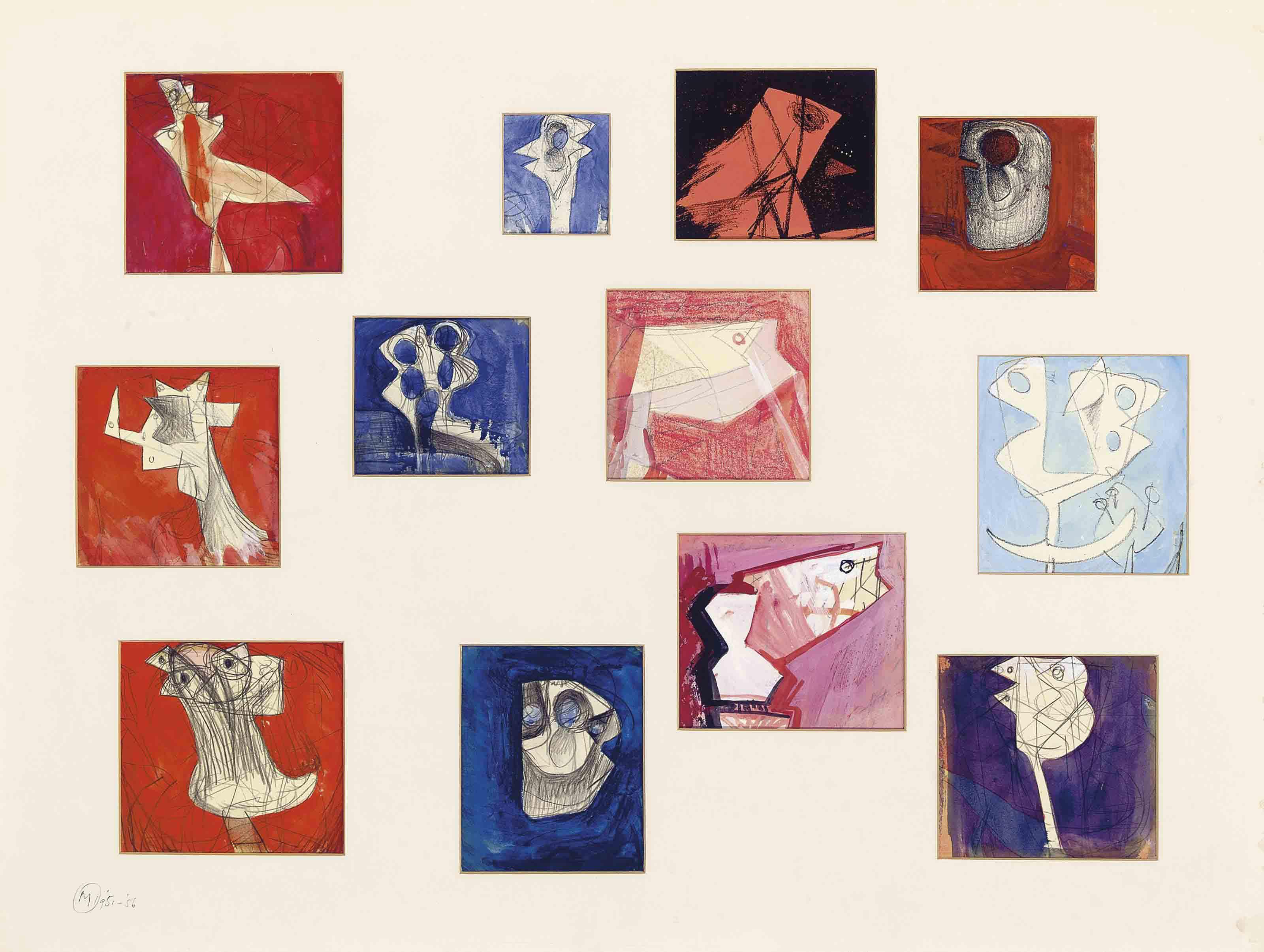 Twelve Drawings for Sculpture 1951-56