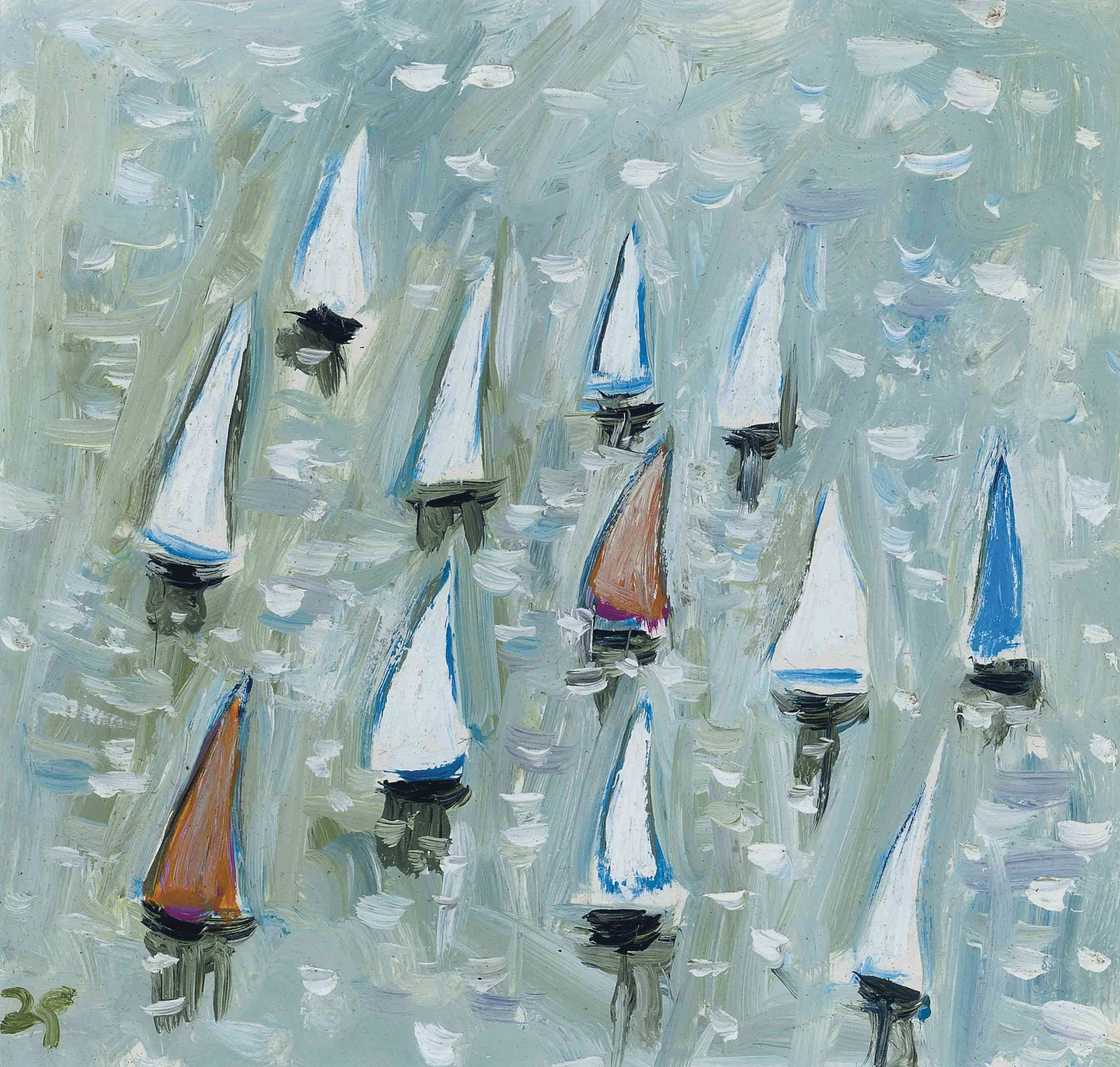 Sail Boats; and Before a Storm