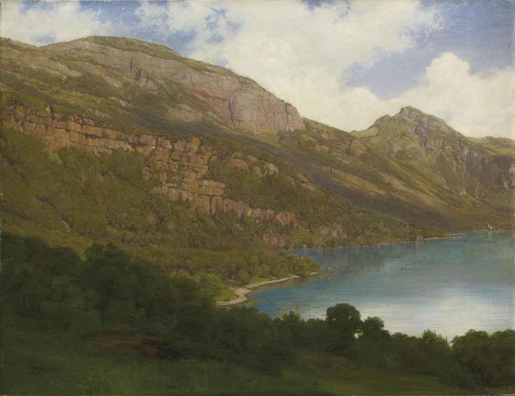 Vierwaldstättersee mit Blick auf die Rigiflanke, 1857