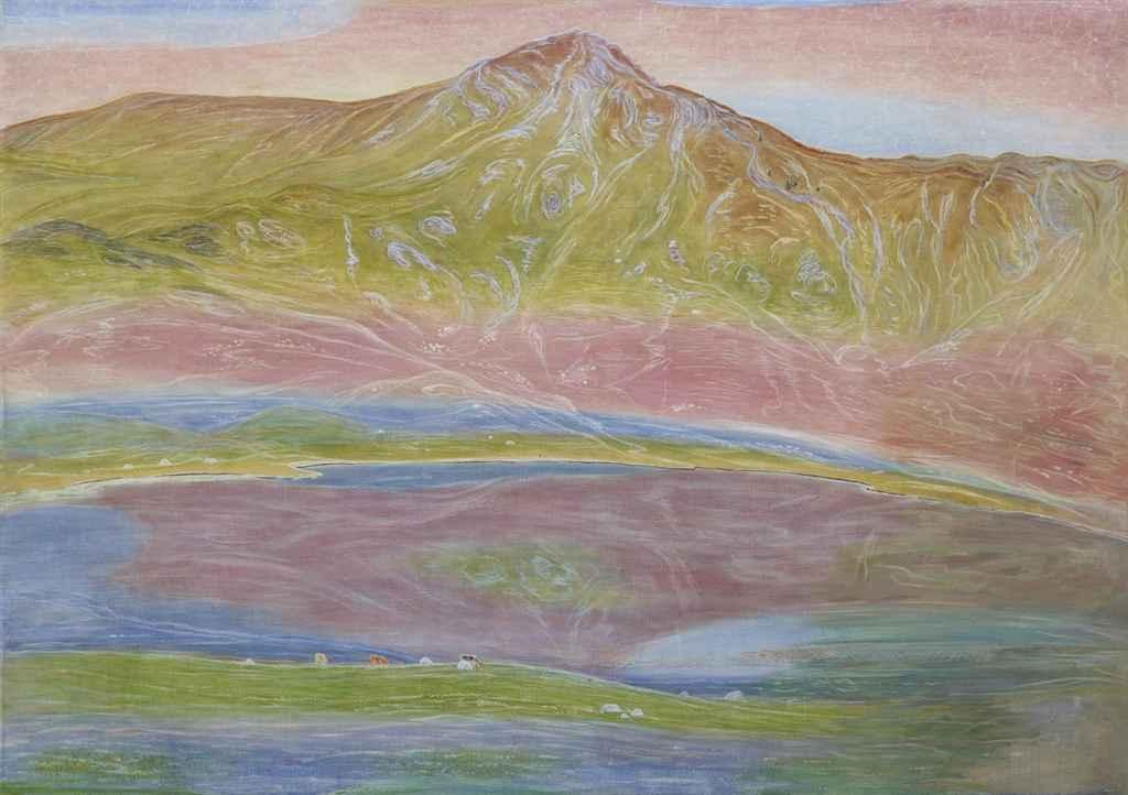 Lac de Roy, um 1910 (rückseitig: La cueillette des pommes)