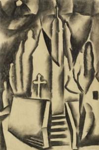 Loreto-Kapelle in Solothurn, Studie zu 'Die blaue Nacht', um 1916