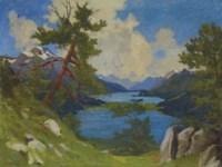 Blick ins Oberengadin, 1922