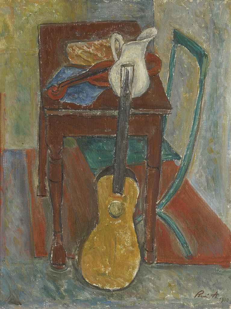 Nature morte à la guitare, 1930
