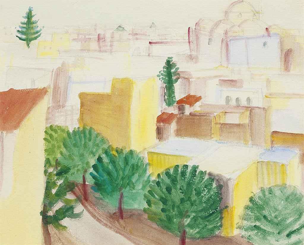 Ansicht von Kairouan, 1920