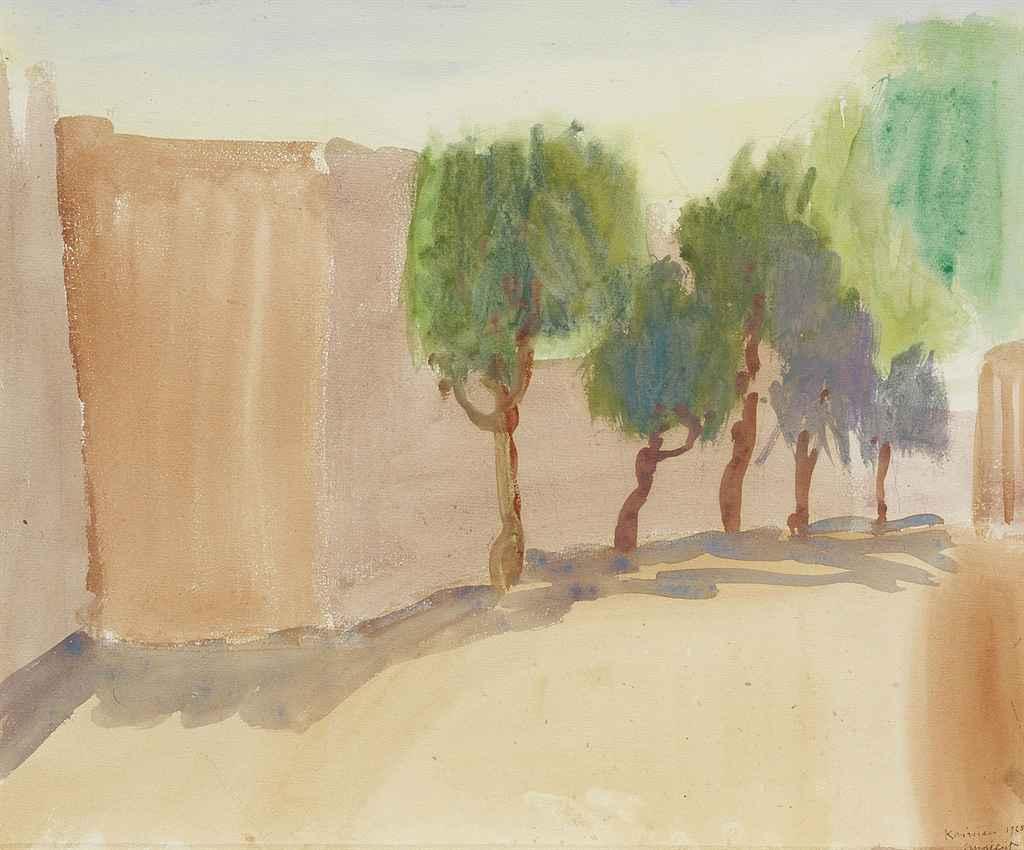 Pfefferbäume in Kairouan, 1928
