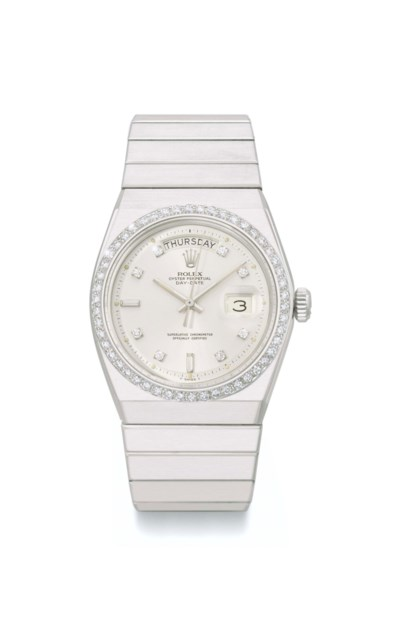 Rolex. An extremely rare plati
