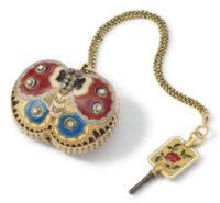 Swiss. A highly rare and unusual 18K gold, enamel and diamond-set butterfly form watch, made for the Turkish market