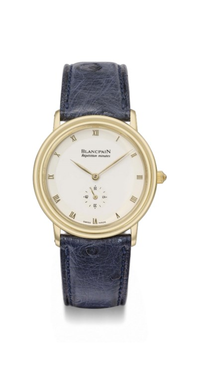 Blancpain. A fine and rare 18K